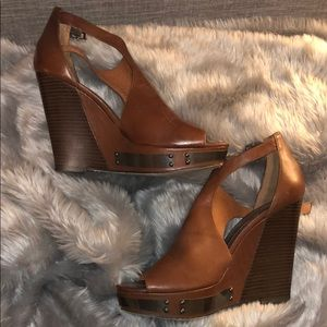 Brown Vince Camuto Wedges